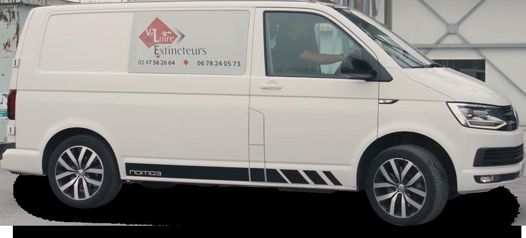Camionette Val de Loire Extincteur